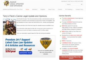 Canine Legal Update and Opinion